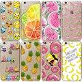 Caso capa para iphone 5 5s se 5g 6 6 s 6g 6 além de 5.5 Transparente Ultra Fino Teste Padrão da Fruta Dos Desenhos Animados de Silicone Macio Do Telefone Móvel sacos