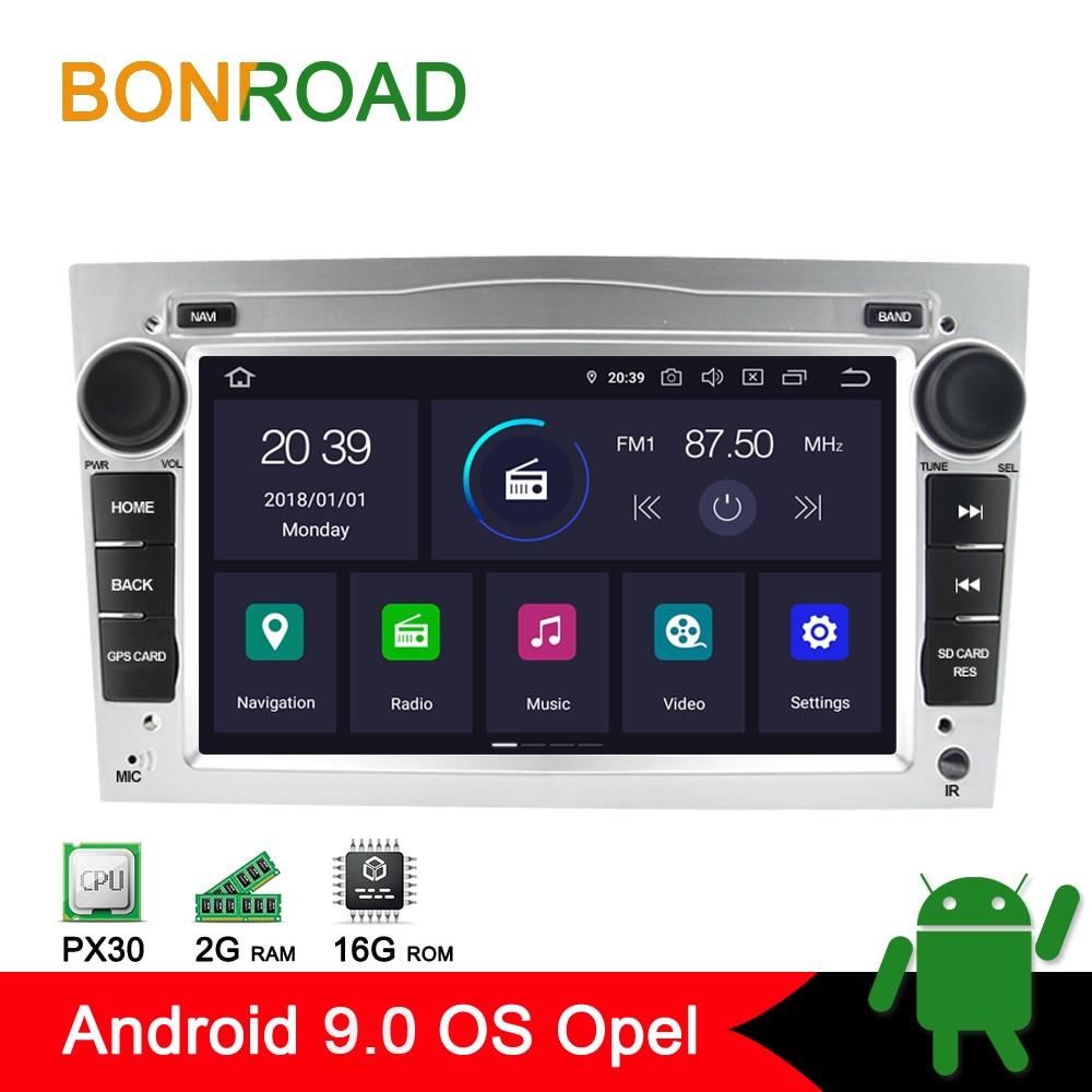 Bonroad 2DIN Android leitor multimédia 9.0 Carro Para Opel Astra Vectra Zafira Antara Corsa Rádio Navegação GPS RAM2G (sem dvd)