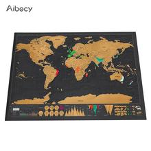 Buy world map and get free shipping on aliexpress aibecy deluxe erase black off world travel scratch for map room home decoration wall gumiabroncs Image collections