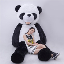 цена на Super Large Stuffed Toy Real Life Panda Doll Factory Direct Plush Toy Bear Black White Giant Panda Birthday Gift for Girlfriend