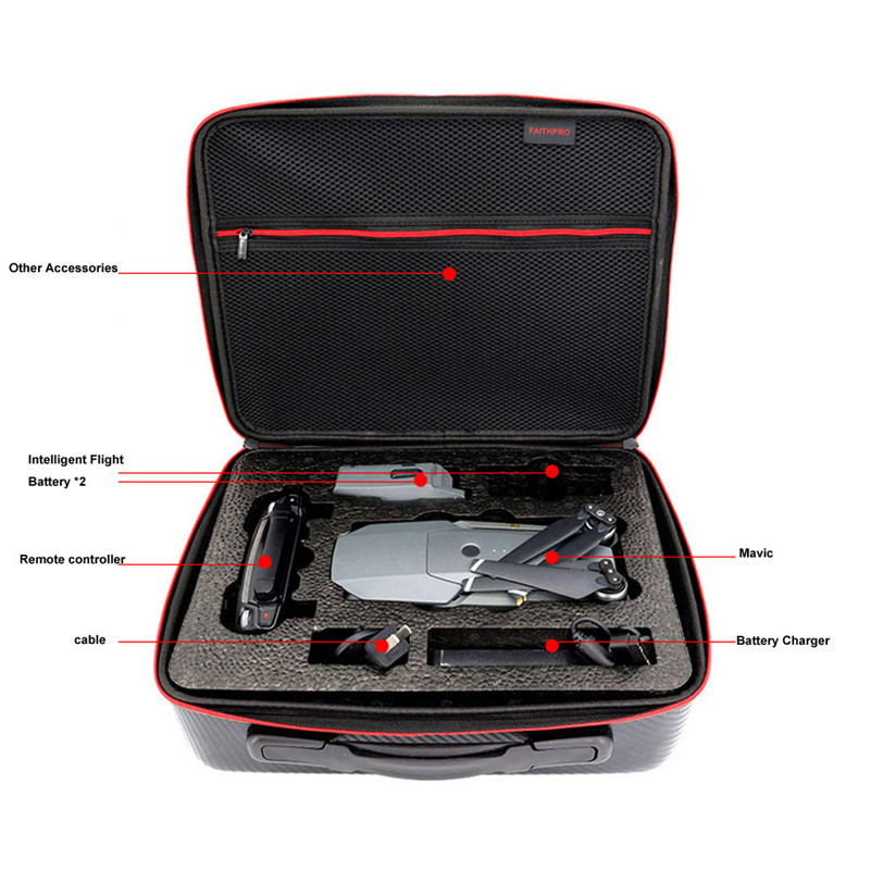 Shoulder Bag For DJI mavic pro Case Protector PU Waterproof Hard Carry Case Storage For DJI MAVIC Pro Accessories Drone Bag waterproof backpack shoulder hardshell carry case bag for dji mavic pro collapsible quadcopter drone