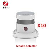 Heiman 10 шт. цена акции датчик дыма ZigBee smart анти пожарной сигнализации Дым сенсор с CE Рош EN14604 утвержден