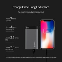 ORICO 10000mAh Power Bank Dual USB 5V2A with Display Screen Poverbank Portable External Battery Pack For Xiaomi Mobile Phone 2