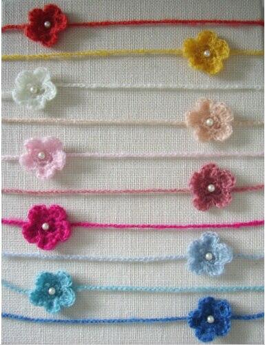 10 Teilelos Mix Farbe Häkeln Mohair Stirnband Mit Blume Haarband