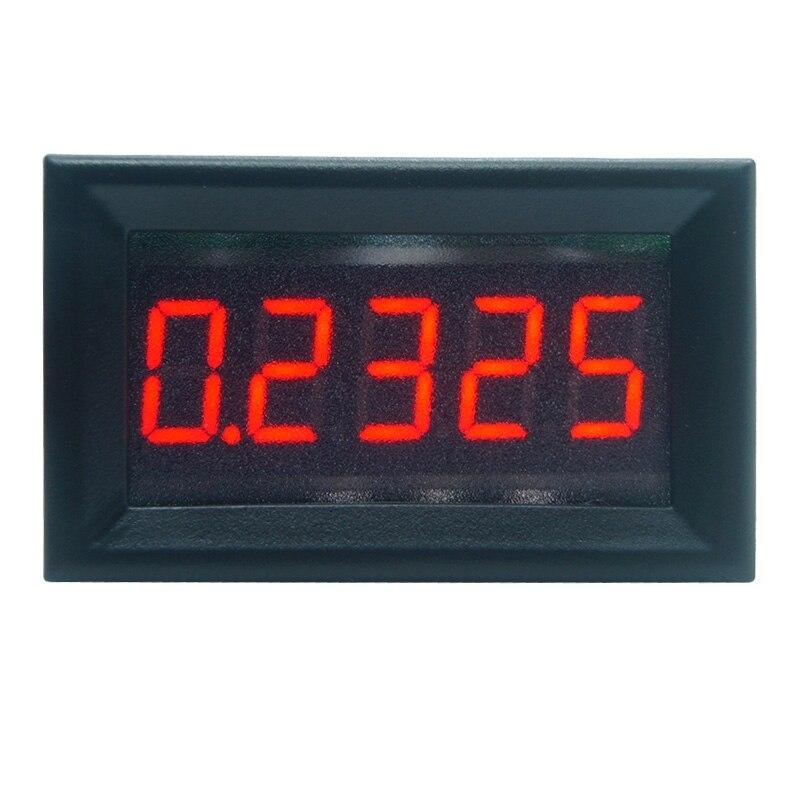 """0.36"""" 5 Digits 0-3.0000A DC Ammeter Digital amp Ampere panel Meter Red LED Electric Current Tester Gauge Built-in Shunt"""