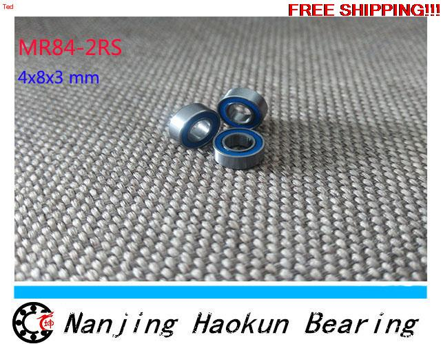 Free shipping 10pcs MR84-2RS MR84RS MR84 deep groove ball bearing 4x8x3mm miniature bearing ABEC3 free shipping 10pcs mr62zz mr63zz mr74zz mr84zz mr104zz mr85zz mr95zz mr105zz mr115zz mr83zz miniature bearing