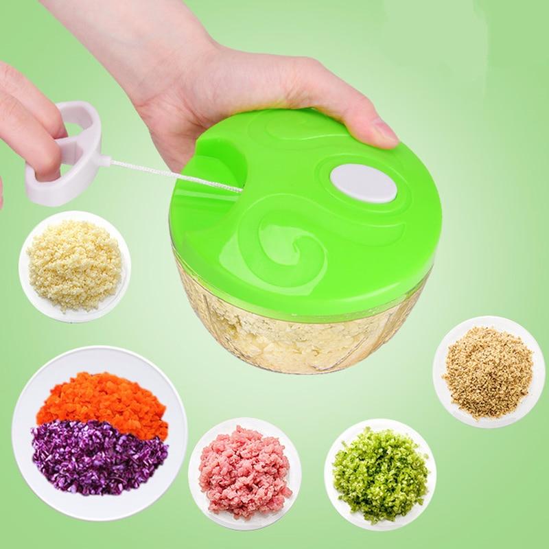 4 tipos de color cocina de mano manual de vegetales chopper multifuncional vegetal chopper carne hogar madeja máquina