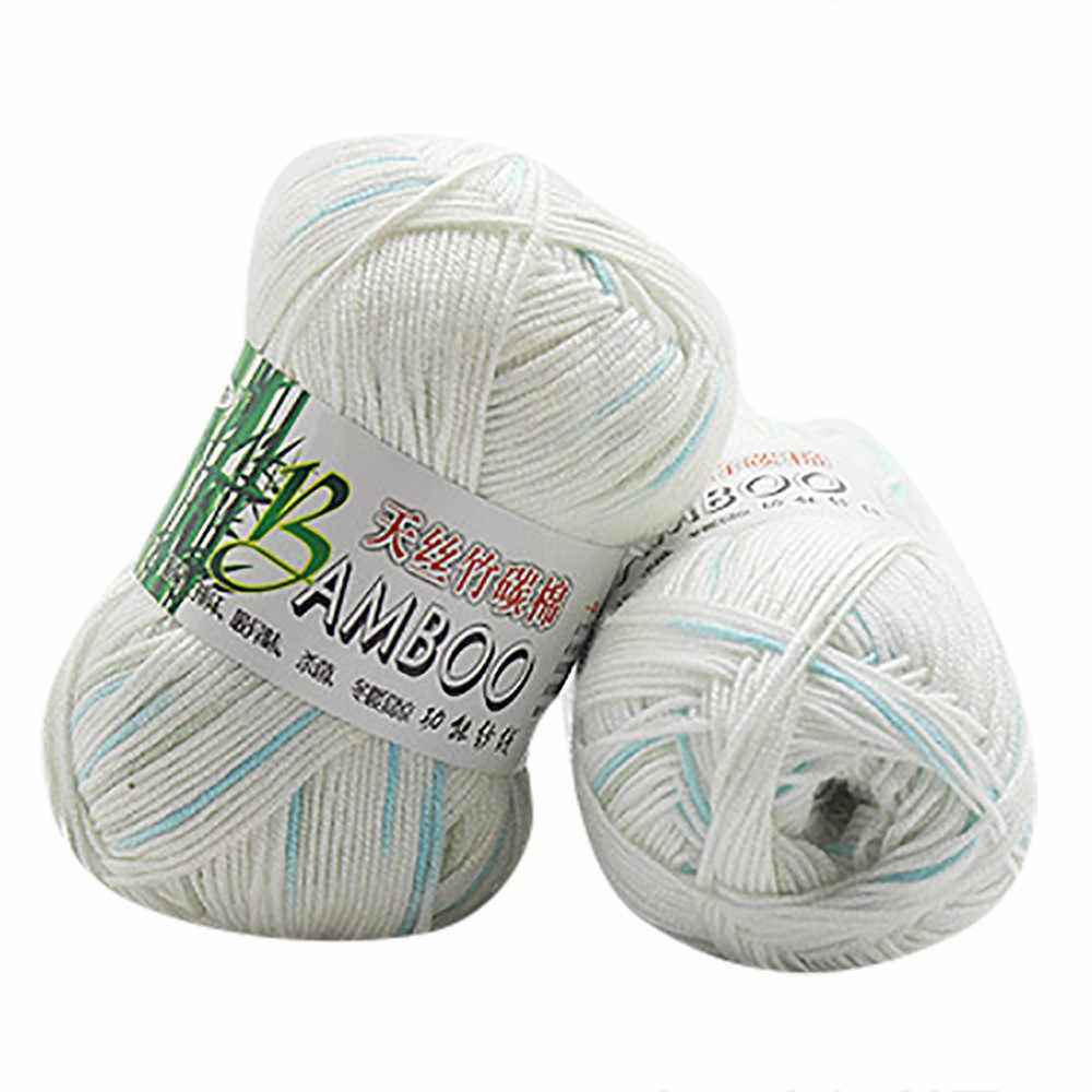 Tre Sợi Cotton Thời Trang Mới Ấm Áp Mềm Mại Tự Nhiên Đan Móc Lưới Sợi Len Nhà Handmade Sợi Đan * 741