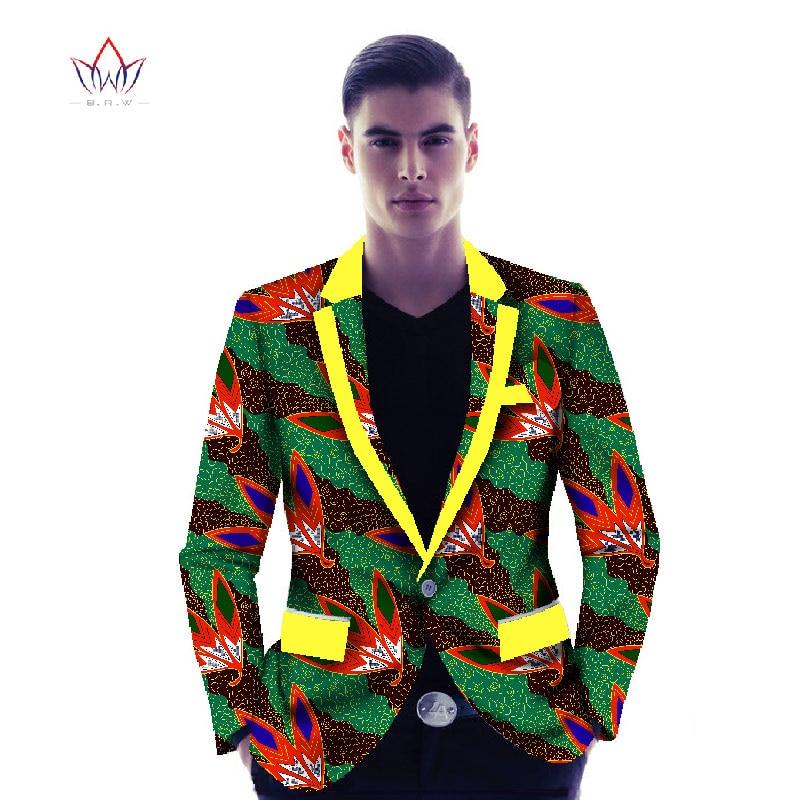 Ropa de impresión africana hombres traje Jacke ropa interior abrigo hombres ropa africana Blazers moda Slim Fit elegante más tamaño 6XL WYN128
