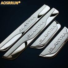 Aosrrun Нержавеющаясталь сбоку порога Накладка автомобильные Интимные аксессуары для 2012 2013 2014 Hyundai Elantra