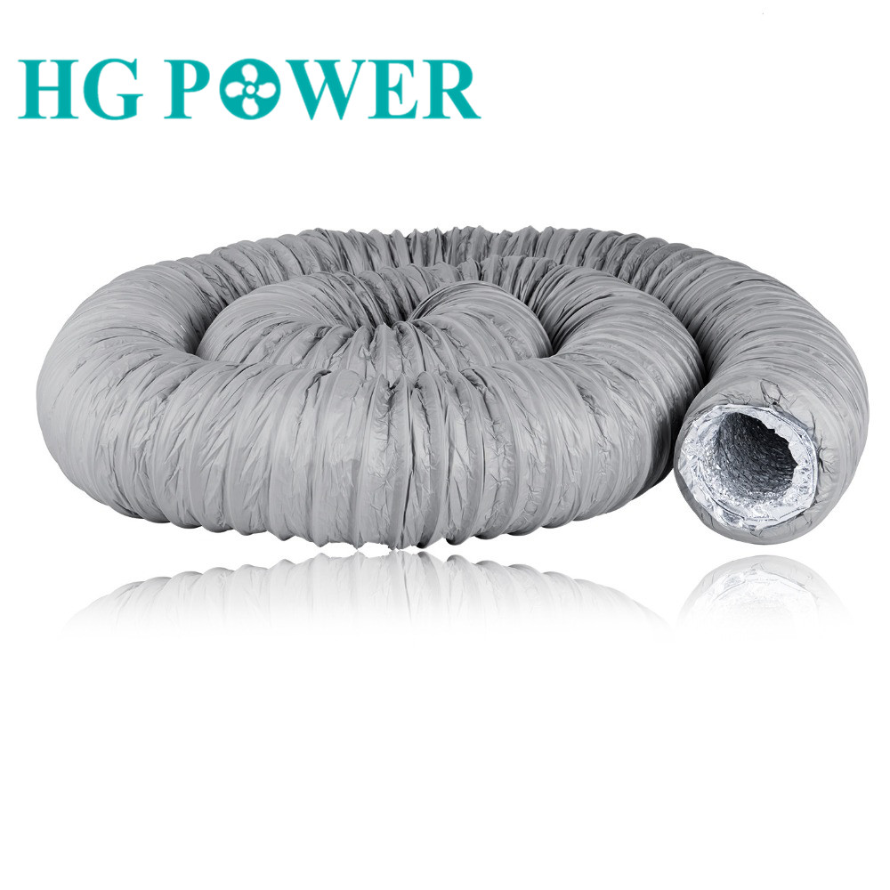 4-8 Inch Home Duct Silencer Low Noise Flexible Ventilation Hose-Insulated Aluminum Fiber Glass Air Duct Pipe For Air Conditioner