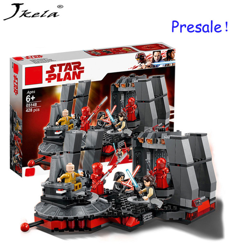 [Hot] New starwars Snoke throne dialing compatibility Legoing StarWars 75216 model building block brick toys christmas gift