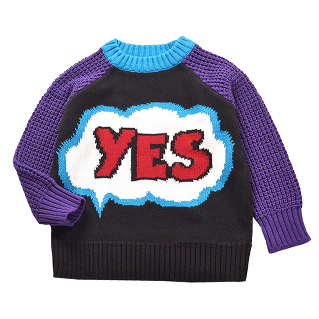 QUIKGROW Exquisite Crochet 'YES PARTY' Unisex Infant Girls Sweater Baby Boy Pullover Colorful Warm Cute Cartoon Jumpers YM18MY