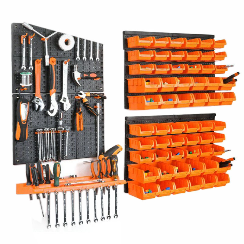 Case-Parts Hardware-Tools Box-Instrument Storage-Rack Screw-Wrench Hanging-Board Garage Workshop
