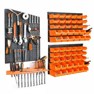Case-Parts Hardware-Tools Box-Instrument Storage-Rack Screw-Wrench Hanging-Board Workshop