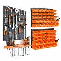 Herramientas de Hardware cartel para colgar garaje taller estante de almacenamiento llave de tornillo componente de clasificación caja de piezas caja de instrumentos