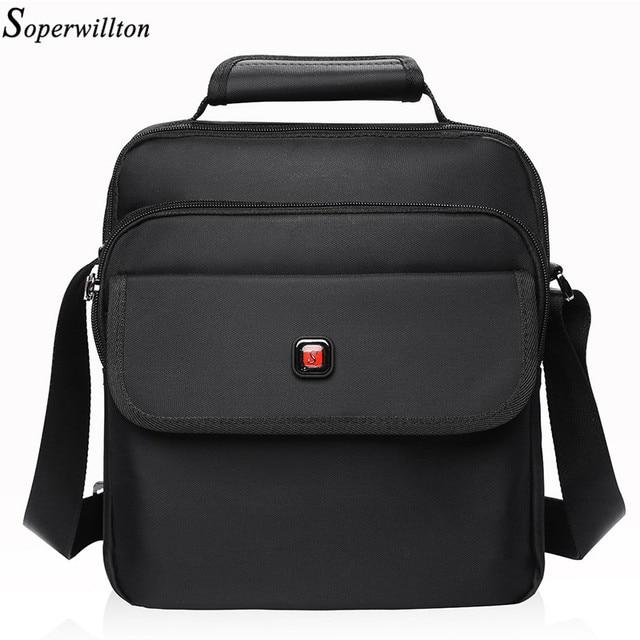 Soperwillton Men's Bag Totes Men Messenger Bags Brand 2017 Fashion Soft Handle Handbag Shoulder Crossbody Bag Male Black #1057
