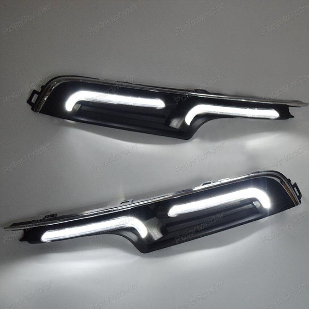 Hot sales car accessory auto Fog lamp for V/olkswagen G/olf 7 2014-2015 Car styling White LED Daytime Day Running Light