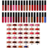 QiBest 34Colors/set Matte Lipstick Cosmetics Lip Gloss Waterproof Beauty Makeup Lip Stick Pencil Lipstick long lasting Soft Lips