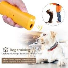 Репелленты 3 в 1 Анти лай Стоп лай домашнее животное обучающее устройство для обучения собак Отпугиватель контроль светодиодный ультразвуковой против лай AB