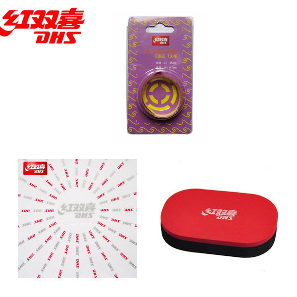 DHS Original Table Tennis Protective Film + Edge Tape + Rubber Cleaner Accessories Set Ping Pong Tenis De Mesa