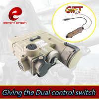 Element Airsoft pistolet broń oświetlenie na polowanie DBAL-D2 laserowy na podczerwień podwójny przełącznik sterowania pistolet wapens taktyczne lazer broń latarka