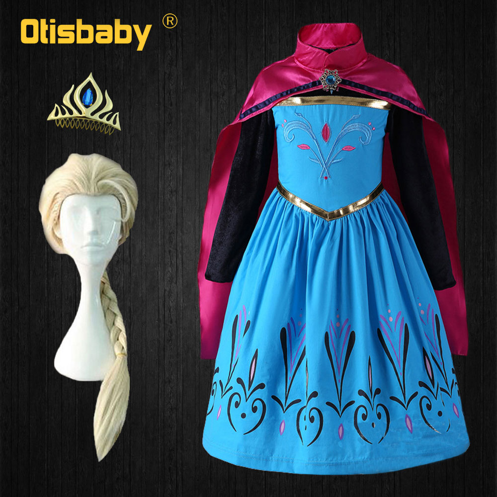 , Blue 3-4 years Yeesn Girls Halloween Costumes Cloak Hooded Cape for Princess Elsa Anna Belle Rapunzel Party Cosplay Outfit Winter Robe Jacket S