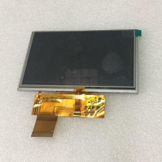 Compatible Replacement 5 Inch Hd LCD Screen And Touch Screen 40 Pin 800*480 LONGLAT-C501 LONGLAT(not Original)