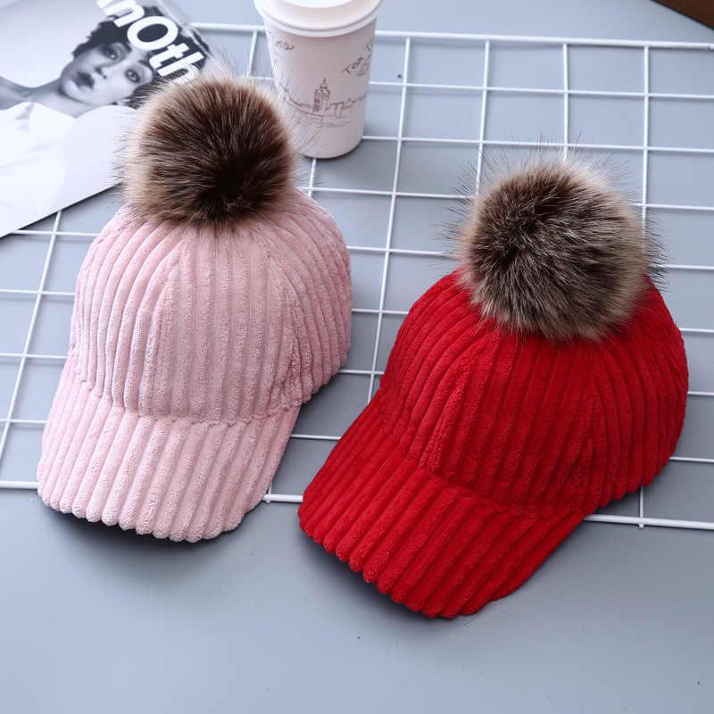 Detalle Comentarios Preguntas sobre Sterbakov invierno pompom Rosa Suede gorra  de béisbol mujeres otoño casual streetwear sombrero negro 2017 elegante ... 481f0c65622