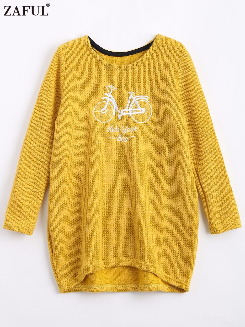 Online Shop ZAFUL Embroidery Sweater Women Knitted Long Jumpers ...