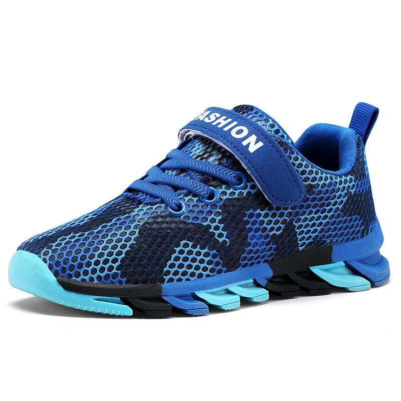 Kid Shoes For Boy 2019 New Children Sneakers Mesh Sport Breathable Fashion Print Big Shoe  4 5 6 7 8 9 10 11 12 13 14 Year