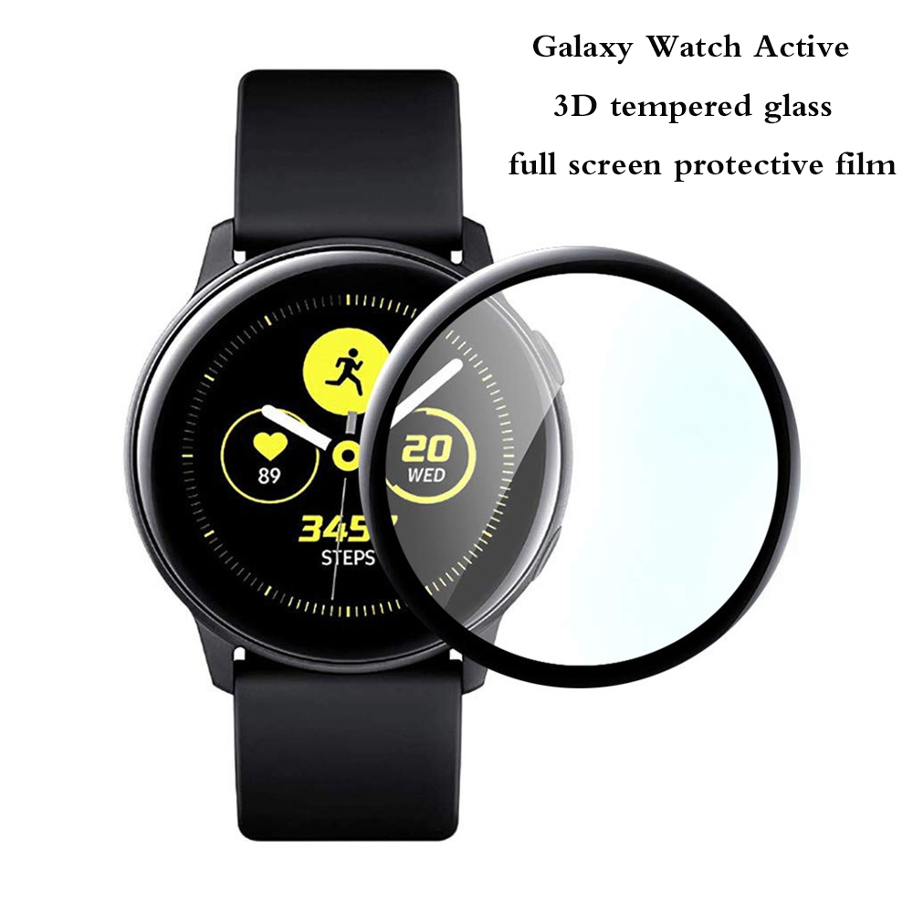 Tempered Glass Protector Film For Samsung Galaxy Watch Active 3D Full Screen Protective Film Soft Fibre Glass Films