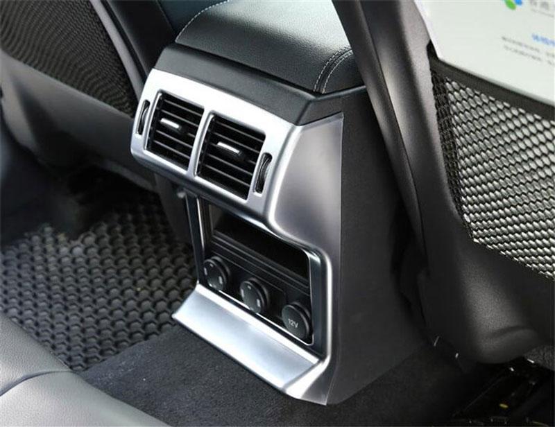 Для JAGUAR F-Темп F темп x761 2016 2017 автомобилей Интимные аксессуары Стайлинг ABS Chrome заднего сиденья кондиционер выходе рамки крышка
