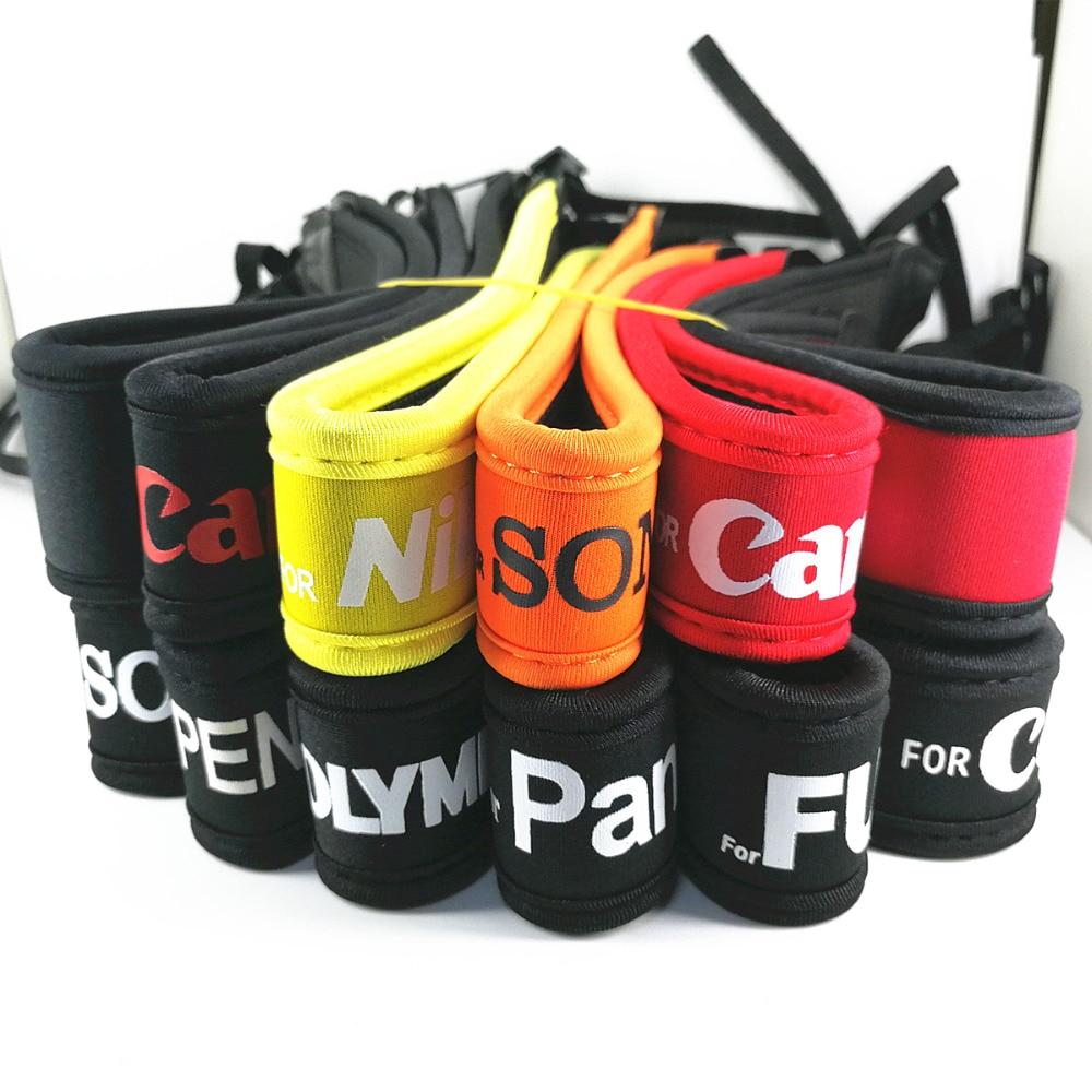 Sangle de cou élastique en néoprène pour appareil photo Canon Nikon Sony Pentax Fujifilm Olympus appareil photo reflex numérique sans miroir