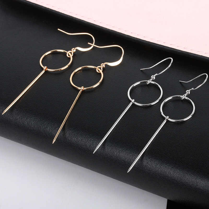 פאנק ארוך ציצית תליון עגילי נשים Pendientes פשוט זהב כסף עגילי תכשיטי מתנות Aretes דה Mujer Bijoux תכשיטים