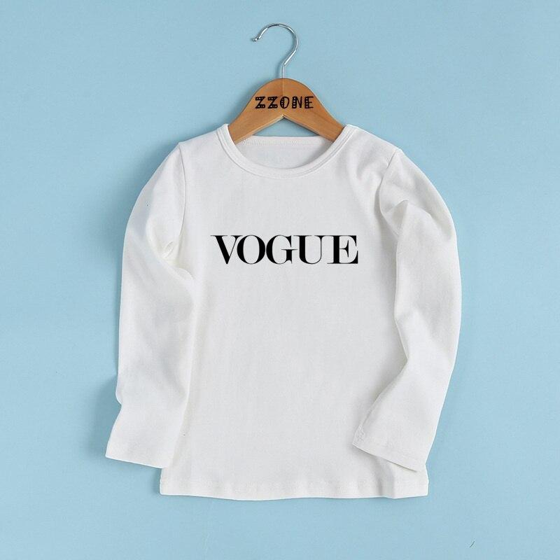 Детская VOGUE Письма футболка с принтом дети больше вопросов, чем одежда VOGUE для маленьких девочек/мальчиков с длинным рукавом Повседневная фу...