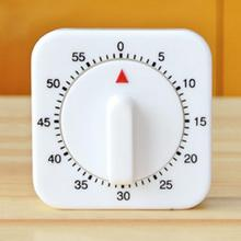 60 минут кухонный таймер отсчет будильник напоминание белый квадратный механический таймер для кухонный сигнал Часы инструменты для приготовления пищи