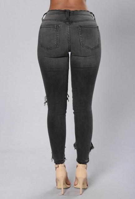 Womens Hardcore Black Faded Ripped Skinny Jeans