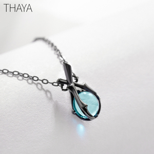 Image 3 - Thaya Original Design Sleeping Beauty Necklace S925  Silver Handmade Crystal Short Collarbone Chain  Jewelry Gift