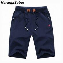 NaranjaSabor Summer Solid Men's Shorts Summer Cotton Casual