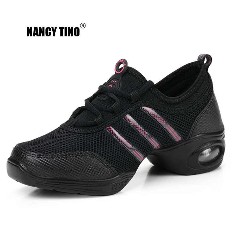 NANCY TINO Soft Outsole Breath Dance Shoes Women Sports Feature Dance Sneakers Jazz Hip Hop Shoes Woman Professional Dance Shoes