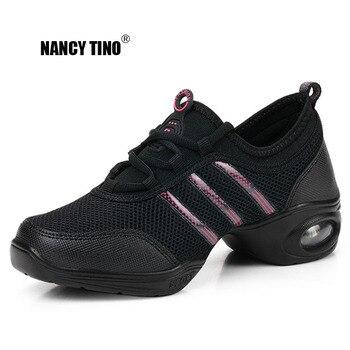 цена на NANCY TINO Soft Outsole Breath Dance Shoes Women Sports Feature Dance Sneakers Jazz Hip Hop Shoes Woman Professional Dance Shoes