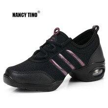 NANCY TINO Weichen Laufsohle Atem Tanz Schuhe Frauen Sport Feature Tanz Turnschuhe Jazz Hip Hop Schuhe Frau Professionelle Dance Schuhe