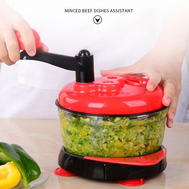 Multifunction Manual Food Processor For Kitchen Portable Blender Meat Grinder Vegetable Chopper Cutter Egg Blender For Household 1