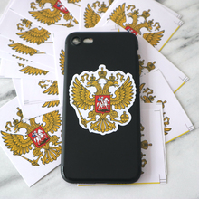 CS-710#6.5*5cm coat of arms russia  funny car sticker colorful printed decal for auto stickers styling decoration