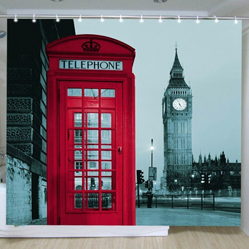 New Famous City Landmark Pattern London Big Ben Polyester Shower Curtain  Waterproof Home Bathroom Curtains. Modern Curtain Patterns Reviews   Online Shopping Modern Curtain