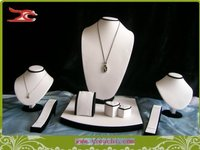 Wholesale Free Shipping Jewelry Display Incount Showcase For Window Display Mixed Showcase White Leatherette And Black