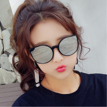 HJYBBSN Round Cat Eye Women`s Sunglasses Water Drip Trendy Vintage Sun