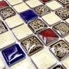 Polished Porcelain Tiles Mosaic Kitchen Backsplashl Tile HMCM1009K Bathroom Ceramic Special Color Wall Tiles