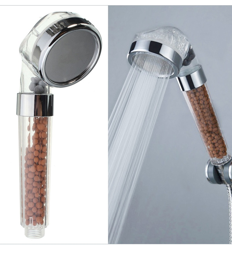 New Handheld Water Saving Shower Head Bath Shower Nozzle Sprinkler Sprayer Filter Transparent Hand Shower Head Showerhead